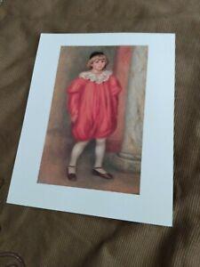 1990 Claude Renoir en Clown Art Print 9x12 R.M.N. Musée de l'Orangerie