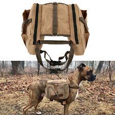 Dog Backpack for Hiking, Traveling Camping Training Bag, Harness Dog Saddle Bag