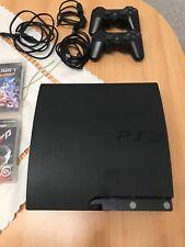 Playstation 3 - PS3 Konsole  250Gb  in Schwarz + 2 Controller + 14 spiele
