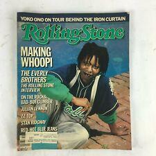 May1986 Rolling Stone Magazine Making Whoopi Julian Lennon ZZ Top Stan Ridgway