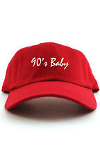 90's BABY DAD HAT BASEBALL CAP UNSTRUCTURED NEW - RED