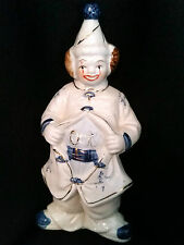 OK on BELLY-Chinese Chop Seal Marks-Porcelain Clown Figurine-Red China Mark-VTG