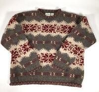 Harry and David's Northwest Express Women Size L 100% wool Crew Neck        2567
