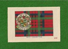 CLAN MACDUFF CLAN DUFF TARTAN Coat of Arms 1922 original printed silk Tartan