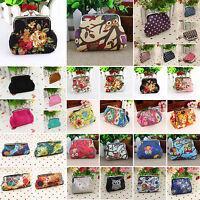 Womens Coin Card Phone Holder Bag Ladies Floral Wallet Clutch Mini Purse Handbag