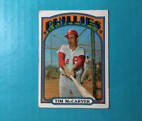 1972 TOPPS BASEBALL TIM McCARVER CARD #139   PHILLIES
