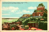 Quebec Canada Chateau Frontenac Postcard used (25642)