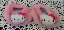 Build A Bear Workshop Pink Fuzzy Hello Kitty Slippers