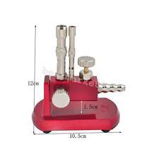 Dental Micro Bunsen Burner Rotatable Gas Propane Light Lab Equipment Double Tube