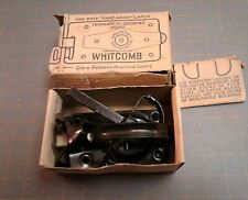 Antique Whitcomb Horse Barn Shed Door Black Latch with D-Handle in Origina Box