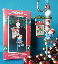 Enesco Ornament 1991 1992 Christmas Trimming 4th Handy Dandy Elf Series Barber