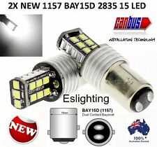 2X 12V BAY15D 1157 P21/5W CAR LED BRAKE TAIL LIGHT 15LED 2835 LED CANBUS BULBS