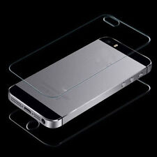 Anti-Scratch Tempered Glass Front and Back Film Screen Protector For iphone 5S 5