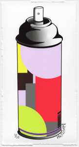 MR CLEVER ART CONTEMPORARY SPRAY CAN Color Theory Op Street Art Deco Graffiti