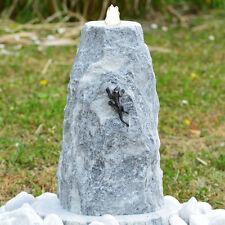 Granit Stein- Gartenbrunnen Komplett-Set Quellstein Eidechse LED Silex 86424 MGr
