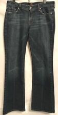 7 For All Mankind Kimmie Distressed Jeans 32x33 Stretch Rhinestones Relaxed Zip