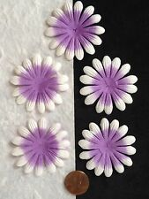 10 Flowers Lilac Lavender petals flower daisy Purple Handmade Mulberry Paper