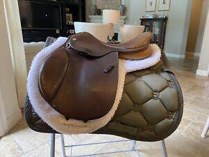 """15-3/4"""" PESSOA Rodrigo Pony English Saddle Made in Paris (ES108)"""