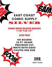 "Comic Book Backer Boards Silver (7 1/8"" X 10 1/2"") 25 boards"
