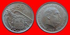 50 PESETAS FRANCO 1957-60 SIN CIRCULAR DE CARTUCHO ESPAÑA