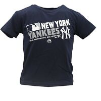 New York Yankees Official MLB Majestic Apparel Youth Kids Size T-Shirt New Tags