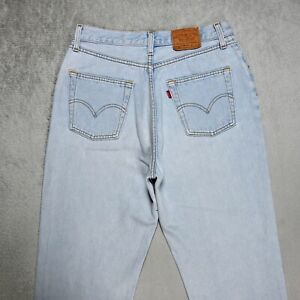 RARE Womens Vintage Levi's 901 Mom JEANS W32 L28 High waist Tapered leg Light