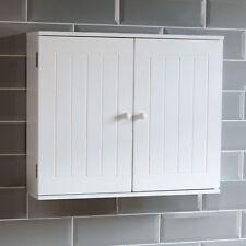 Home Discount Bathroom Cabinet Double Door Wall Mounted Storage Shelf, White