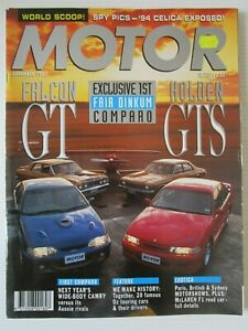 Modern Motor Dec 1992 - FALCON GT v HOLDEN GTS - FAIR DINKUM COMPARISON