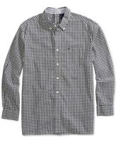 Tommy Hilfiger Mens Shirt Black White Size Medium M Plaid Button Down $69 042