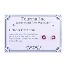 October (tourmaline) Birthstone Earrings With Crystals From Swarovski
