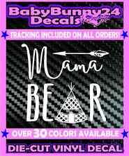 Mama Bear Vinyl Decal Sticker Mom Car Truck Mom Baby Children Family Tribe