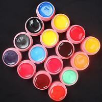 16 PCS Mix Color Pearl UV Builder Gel Set for Acrylic Nail Art Tips ~ Pink