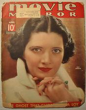 MOVIE MIRROR MAGAZINE APRIL 1936 Vol. 8 No. 5 MYRNA LOY JEANETTE MacDONALD