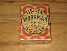 Vintage Union Workman Scrap Tobacco Unopened Package-1926 Tobacco Stamp