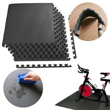 GYM RUBBER FLOORING Tiles Garage Home Fitness Exercise 24 SQFT Workout Floor Mat