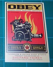 Shepard Fairey Obey Giant Print and Destroy Album Cover Mini Print Showcard 2011