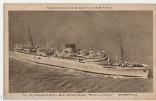 Union Castle Royal Mail Motor Vessel Stirling Castle Shipping Postcard, B521