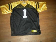 Iowa Hawkeyes #1 L/XL SEWN Black Football Jersey,STRIKING LOOK,MAKES GREAT GIFT