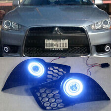 LED Daytime Fog Lights Projector angel eye kits For Mitsubishi Lancer EX 08-2015