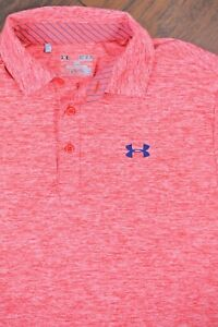 Under Armour Performance Polo Shirt Red Marble Men's Medium M