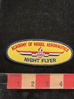 Vintage AMA NIGHT FLYER ACADEMY OF MODEL AERONAUTICS Airplane Patch 96B7