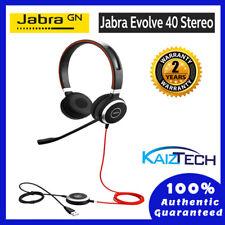 Jabra Evolve 40 UC Stereo Wired Headset / Music Headphones