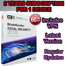Bitdefender Total Security 2018 for 1 PC - 2 years Pre Activated-NO KEY NO CD