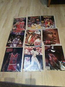 Vintage Michael Jordan Beckett Baseball Basketball Card Magazines Lot of 9 Bulls
