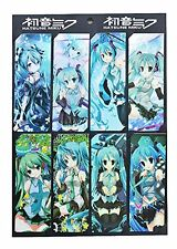 Hatsune Miku 8pc Bookmark Set