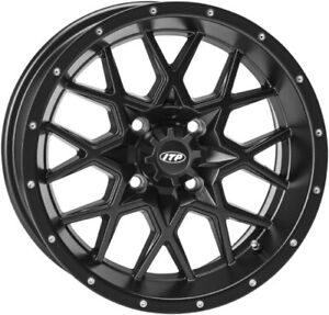 ITP Hurricane Matte Black ATV Wheel Front/Rear 12x7 4/110 - (5+2) 1228627536B