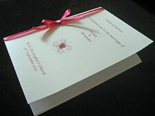 50 Personalised Wedding Order Of Service A5 with 4 page insert