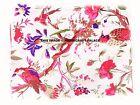 1/2.5/5 YARD Indian Hand Block Print Cotton Fabric Natural Handmade Sanganeri