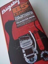 Genuine FENDER F Logo B5 BIGSBY Tremolo Bridge Kit ~Complete TELE Telecaster Set