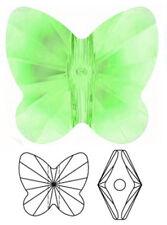 UN CRISTAL SWAROVSKI Papillon Perle/Pendentif en 5754, Péridot, 10 mm